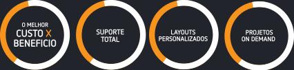 O melhor custo benefício - Suporte Total - Layouts Personalizados - Pojetos On Demand